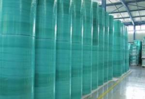 Green rolls in warehouse (original)
